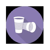 bicchiere plastica mono uso